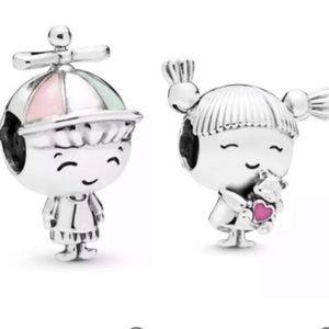 S925 ALE Boy Girl Bead Charm Bundle Set
